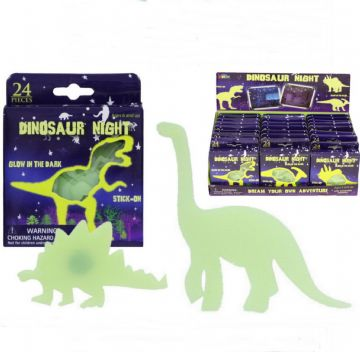 24pc Glow in the Dark Dinosaur Stickers Ceiling Childs Kids